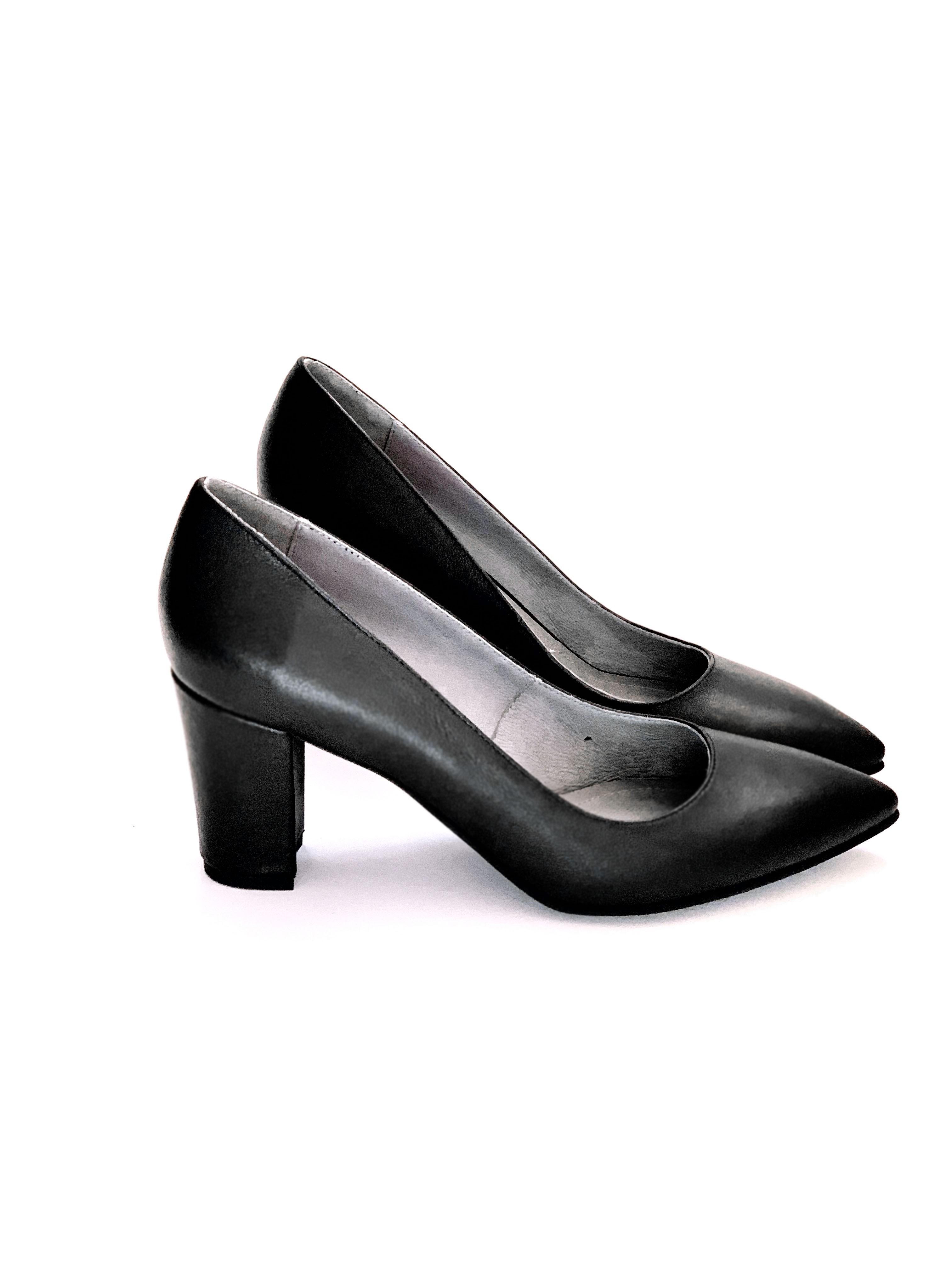 Pantofi Clever toc gros