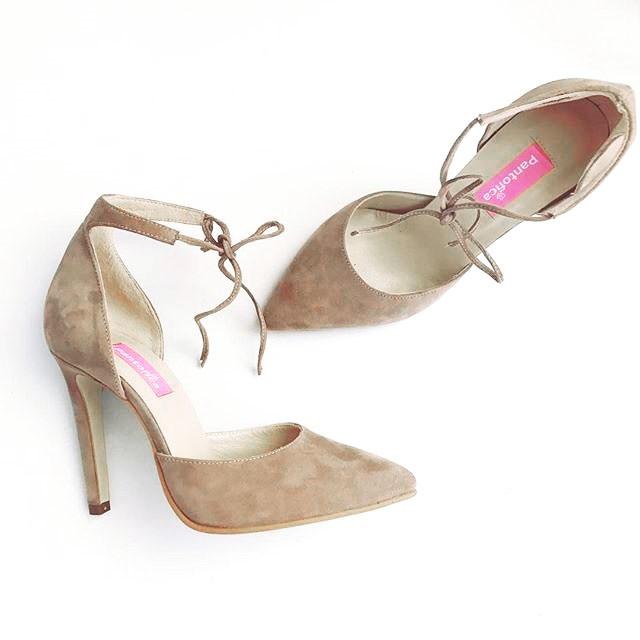 Pantofi Ankle Bow Stiletto