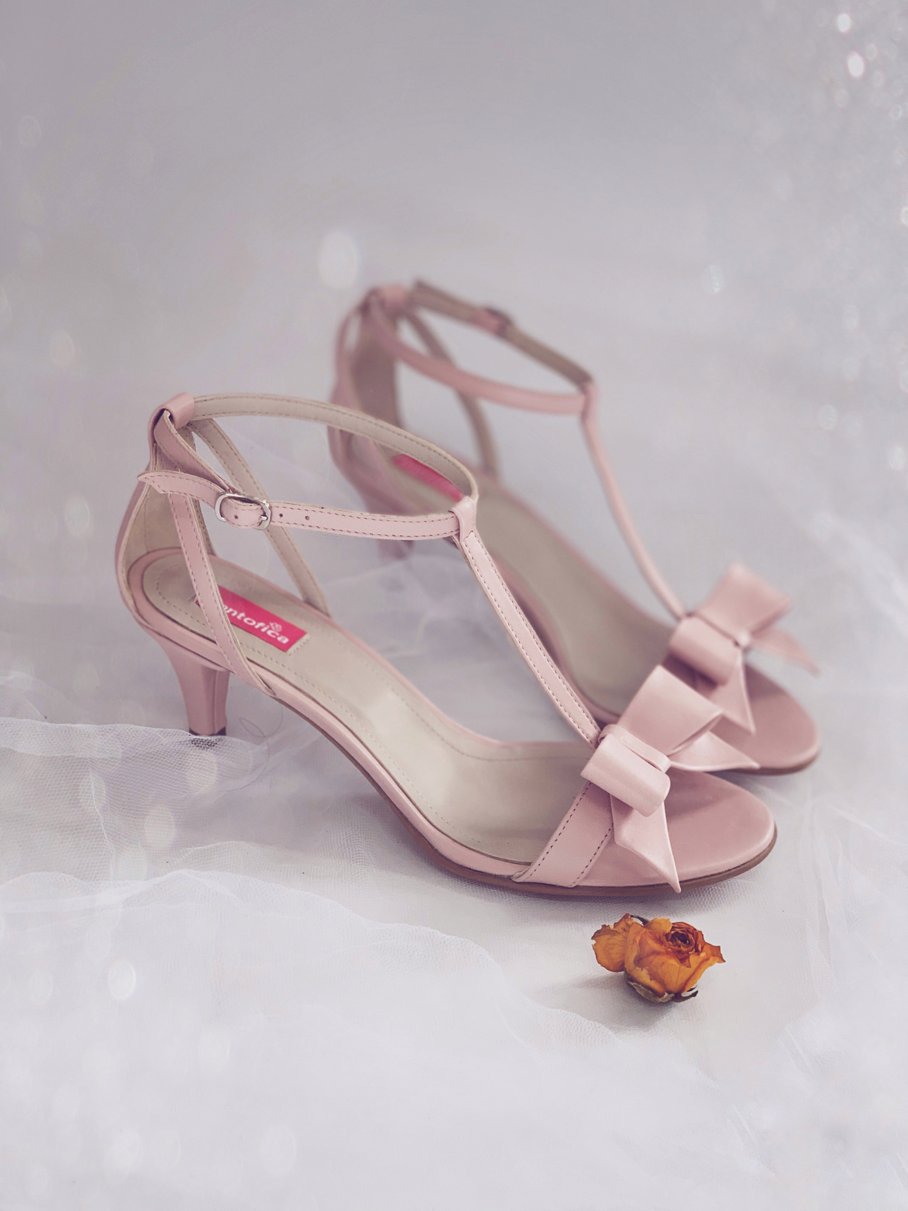 Sandale Delicate Thin Bow...