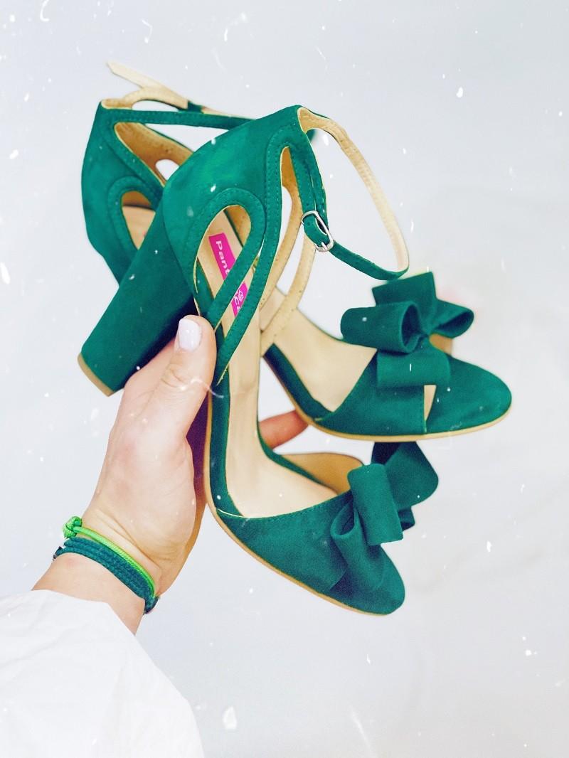 Sandale Smarald toc gros