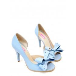 Pantofi Peep Toe Baby Pink